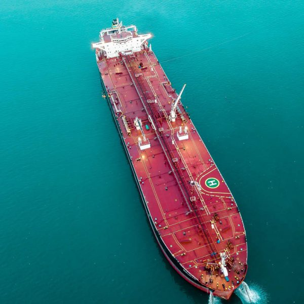 Crude oil supply from Nigeria. Tanker