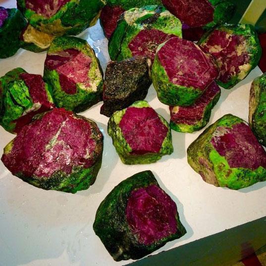 Рубин в цоизите из Африка
