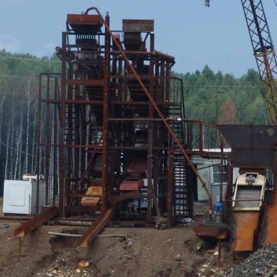 Оборудование по очистке отвалов и добыче золота