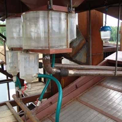 Equipment for cleaning of dumps and extraction of gold