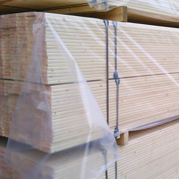Packaging of Sawn wood in film and transport packages