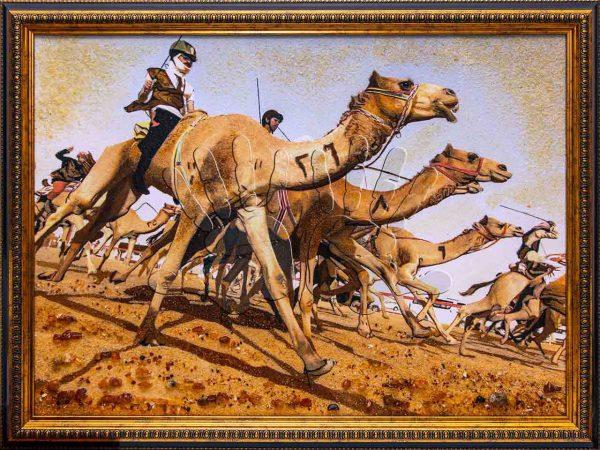 Янтарное полотно Camels Competition студии AmberArt