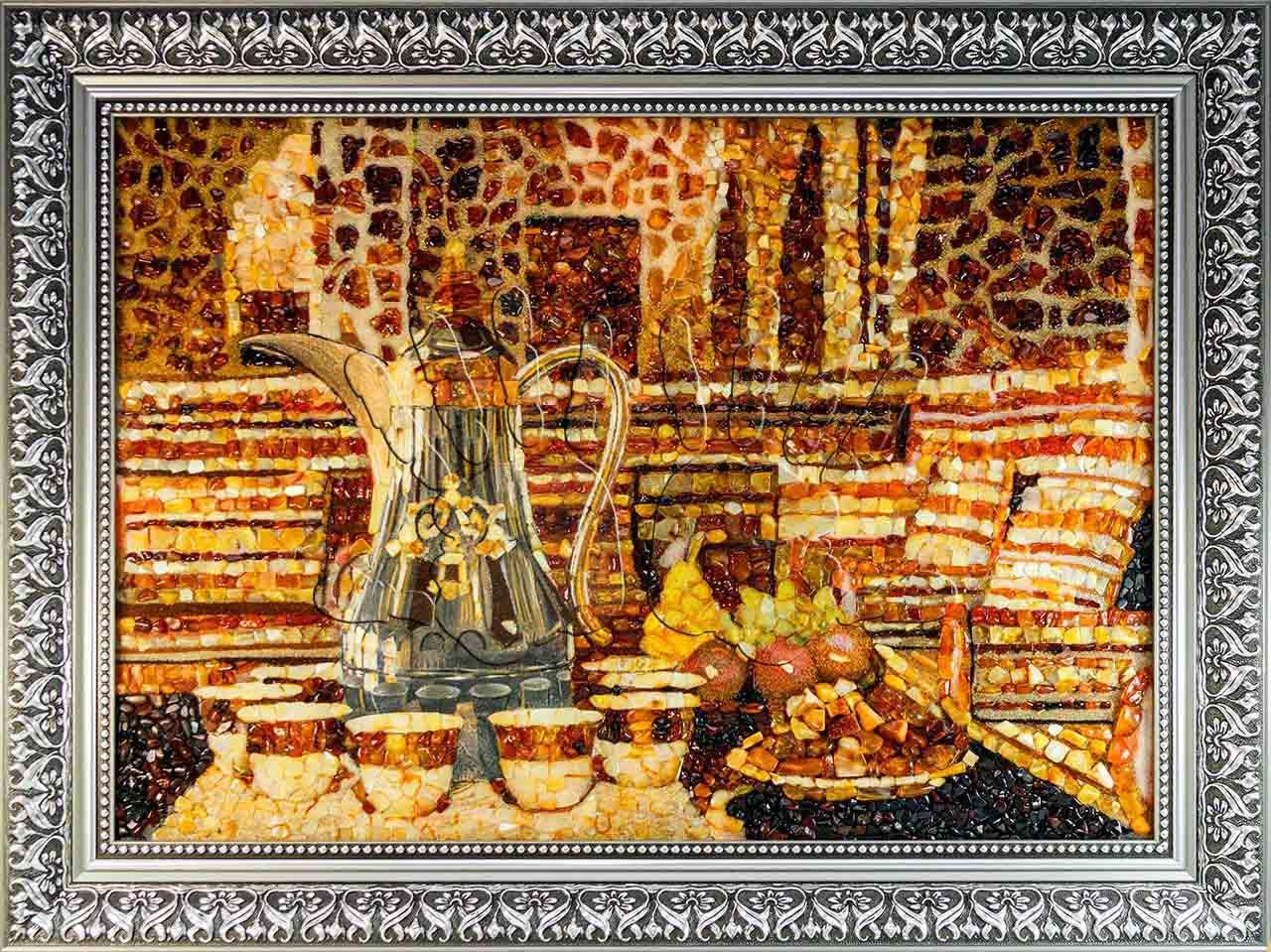 Янтарное полотно Majlis студии AmberArt