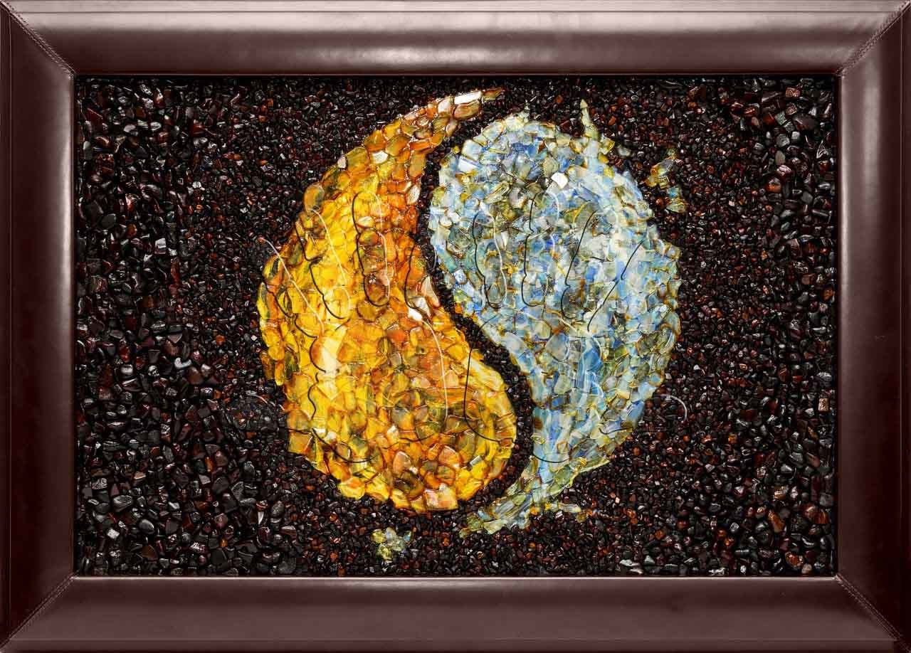 Amber canvas Yin and Yang (mosaic) workshop Amber Art