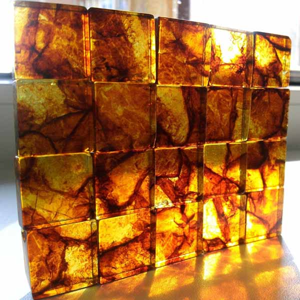 Amber tiles in the sun - AmberTile