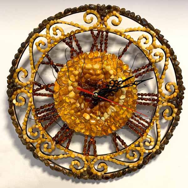 Часы из натурального янтаря - AmberArt