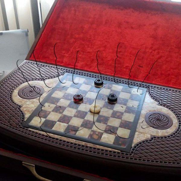 Шахматная доска из янтаря AmberArt